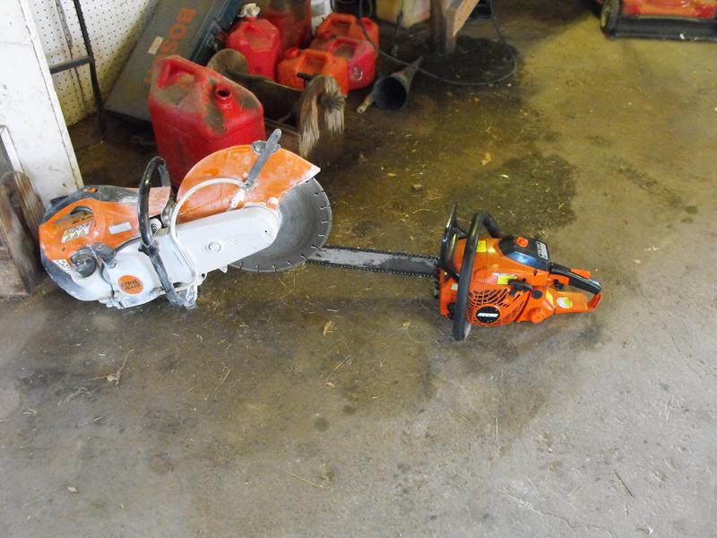 handheld.circular.saw and chainsaw